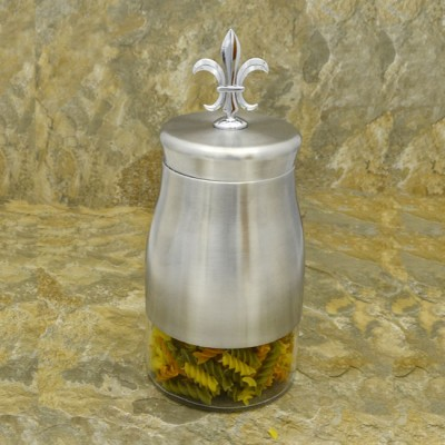 31279-FDL 44 Oz. SUGAR GLASS JAR W / SS FDL