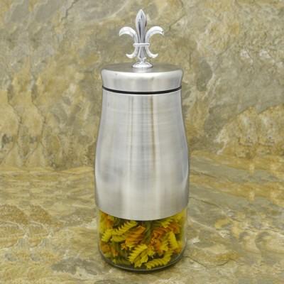 31280-FDL  57Oz. COFFEE GLASS JAR W / SS FDL