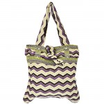 181195 - PURPLE CHEVRON SHOULDER BAG