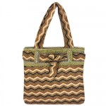 181198 - BROWN CHEVRON SHOULDER BAG
