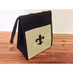 32543 - BLACK/BEIGE W/BLACK FDL  INSULATED LUNCH BAG