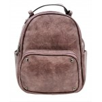 3219-PURPLE PU LEATHER SMALL BACKPACK