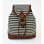 9149 - BLACK STRIPE SMALL BACKPACK