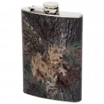 STAINLESS STEEL FLASK WITH CAMOUFLAGE WRAP - 8 Oz.