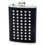 STAINLESS STEEL FLASK /W METAL STUDS - 8 Oz.