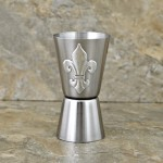 180121-FDL-FLEUR DE LIS STAINLESS STEEL DUAL MEASURE SPIRIT MEASURING CUP