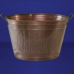 1197 Tub Oval Large Copper / W Oklahoma Design