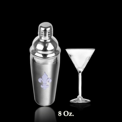 6017-SMALL STAINLESS STEEL COCKTAIL SHAKER / W FDL 8 OZ.