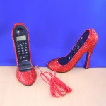 ST32101RED - SHOE PHONE SET / W RED CRYSTAL