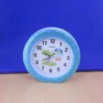 ST32102BLUE - ROUND ALARM CLOCK / W BLUE CRYSTAL