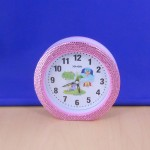 ST32102LPNK - ROUND ALARM CLOCK / W PINK CRYSTAL