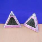 ST32103LPNK - PYRAMID ALARM CLOCK / W PINK CRYSTAL