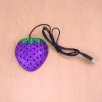 ST32115-STRAWBERRY MOUSE / PURPLE CRYSTAL