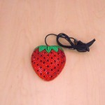 ST32115-STRAWBERRY MOUSE / RED CRYSTAL