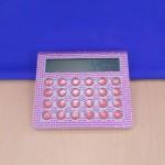 ST32117-LIGHT PINK CRYSTAL CALCULATOR