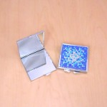 ST32118 - COMPACT MIRROR / W BLUE CRYSTAL