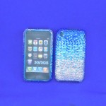 ST32122 - IPHONE COVER / BLUE & CLEAR CRYSTAL