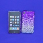 ST32122 - IPHONE COVER / PURPLE & CLEAR CRYSTAL