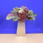 1132 - FLOWER VASE HAMMERED DESIGN
