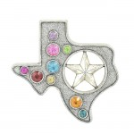 7013-SIL - TEXAS WALL HANGING SILVER