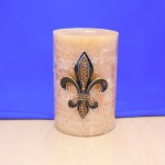 10033AM-SM - AMBER STONE SMALL FDL CANDLE PIN