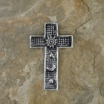 30074- ALUMINIUM WALL CROSS SMALL
