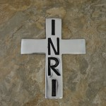 30397- ALUMINIUM WALL CROSS W/INRI SIGN
