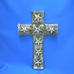 52359 - ALUMINIUM WALL CROSS W/STARS