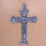31099- ALUMINIUM WALL CROSS