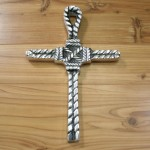 50566- ALUMINIUM WALL CROSS W/ROPE DESIGN