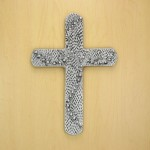 50828- ALUMINIUM WALL CROSS