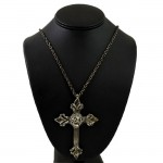 NK12124 - ANTIQUE LARGE CROSS CHAIN NECKLACE - 29""