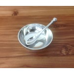 52334-SET -SMALL ROUND CONTEMPORARY DISH/SPOON