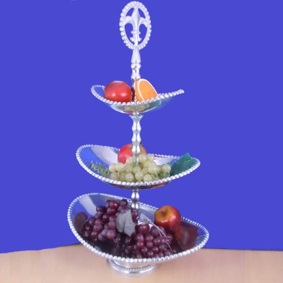 23815 - FDL FRUIT STAND / BEADED OVAL