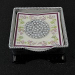 52353-COCKTAIL NAPKIN HOLDER W/BEADED WEIGHT