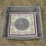 52354-NAPKIN HOLDER W/BEADED WEIGHT