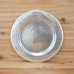 "3252 -  CHARGER PLATE W/HAMMERED DESIGN 13""X13""X.5"""