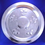3379 - TRAY ROUND LARGE W/FDL DESIGN