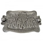 50809-LARGE RECT. ELEPHANT TRAY W/HANDLE
