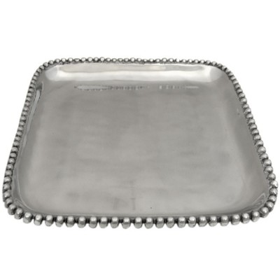 52314-BEADED SQUARE TRAY
