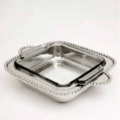 50767 - BEADED PYREX HOLDER W/GLASS