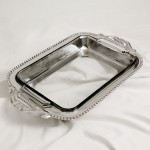 52162 - PYREX HOLDER BEADED / W GLASS