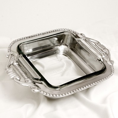 52161 - SQUARE PYREX HOLDER 8 X 8 / W GLASS