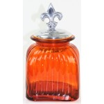 40001 AMBER SMALL SINGLE CANISTER WITH LID