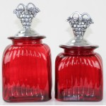 40003 RED 2PC. CANISTER SET WITH LIDS