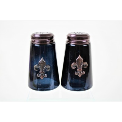 600020COP-BLK - 2PC. SALT-PEPPER SHAKER BLACK(COP)