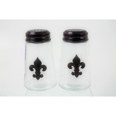 600020COP-CLR - 2PC. SALT-PEPPER SHAKER CLEAR(COP)