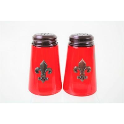 600020COP-RED- 2PC. SALT-PEPPER SHAKER RED(COP)