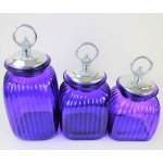 60004 PURPLE 3PC. CANISTER SET WITH LIDS