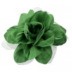 180650-GN- DARK GREEN FLOWER BROOCH